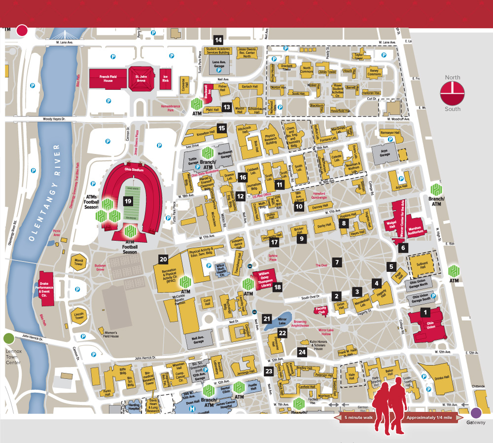 osu columbus campus map Location The Osu Buckeyes osu columbus campus map